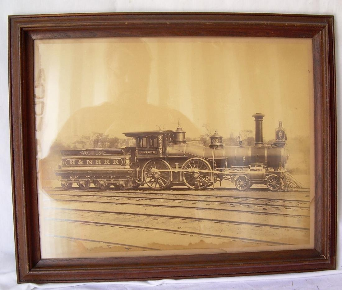 Framed Hartford & New Haven Locomotive Saturn #27