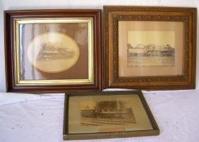 3 Framed photographs Steam Locomotives