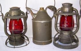 Boston & Maine Hardware Lanterns, Gray Can
