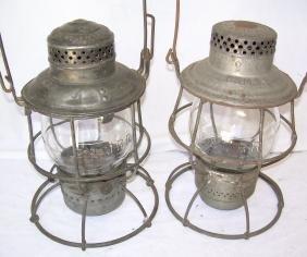 Boston & Maine Railroad Tall Globe Lanterns (2)