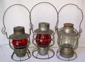 New Haven Railroad Lanterns (3)