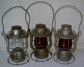 Boston & Maine Railroad Lanterns Clear Red Amber