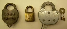Railroad Locks & Keys (3) Union Pacific