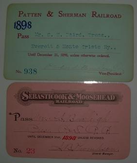 Patten & Sherman, Seb & Moose Passes 1898