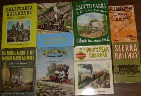 Railroad Train Books - 8 mostly Western