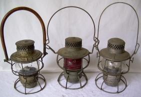 Short Globe Lanterns (3) MC Custom,  Erie, Pennsy