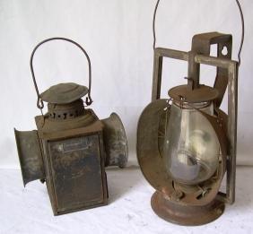 Dressel Gate Lamp & Dietz Acme Inspector Lantern