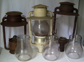 * 3 Large Pioneer Lamps Repair Ham Dietz 3 Globes