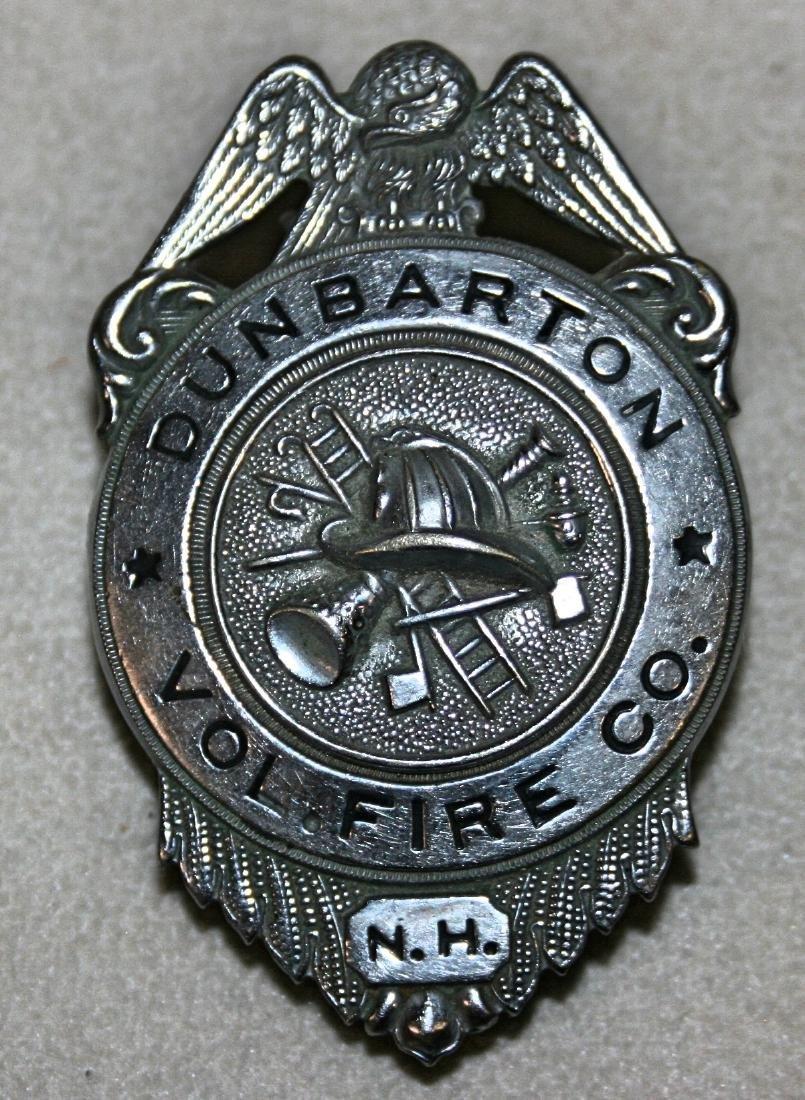 Badge: Dunbarton Vol Fire 6 NH,