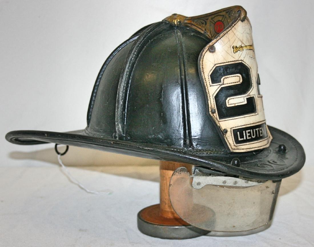 Fire Hat: Leather, 24 Lieutenant