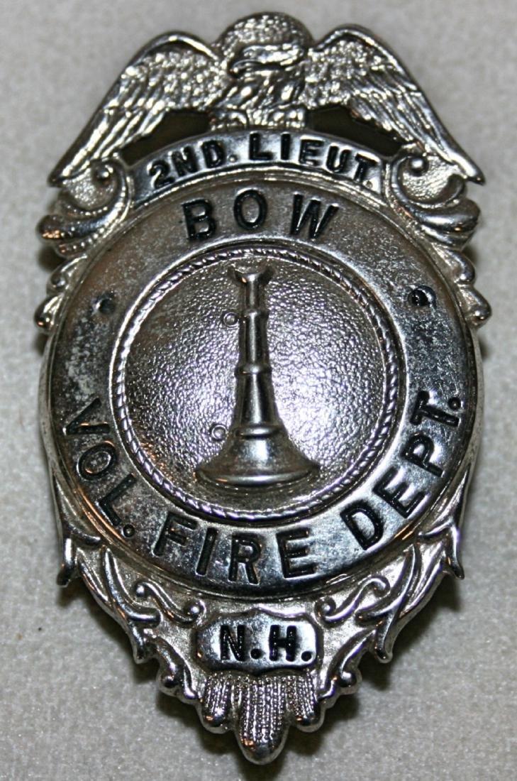 Badge: 2nd Lieut. Bow Vol. Fire Dept NH