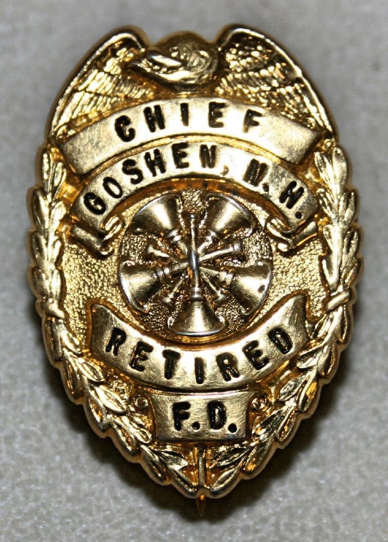 Badge: Chief Goshen NH Retired FD