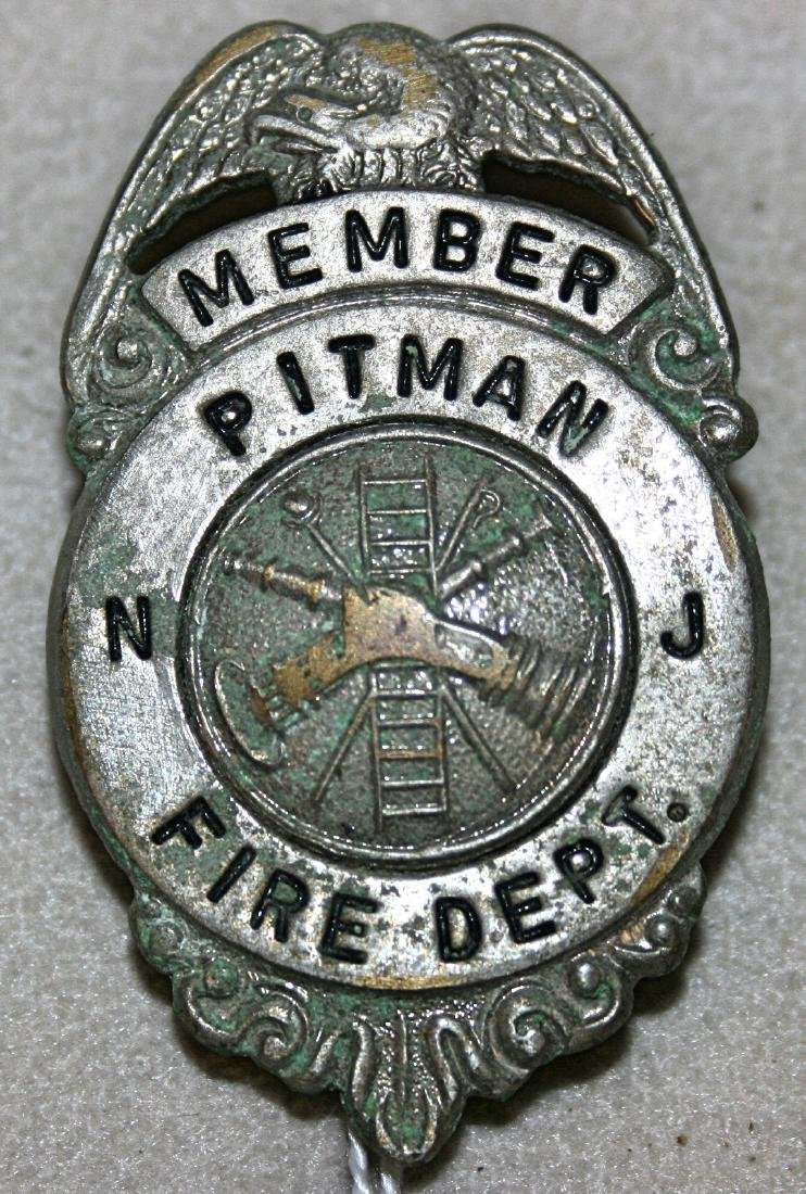Badge: Member Pitman NJ Fire Dept
