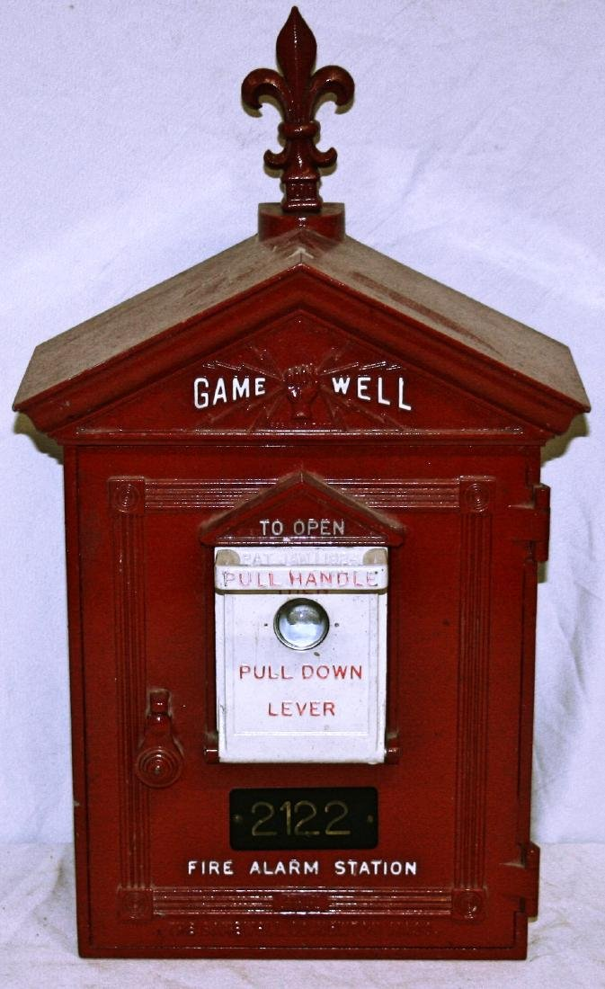 """Gamewell Fire Alarm , 21 3/4"""""""