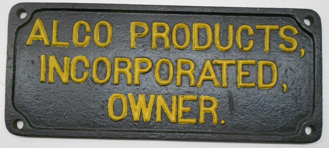 Alco Products Incorporated Builder Plate