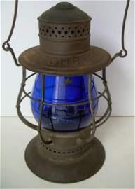 Fitchburg BLUE Cast Ham Railroad Lantern