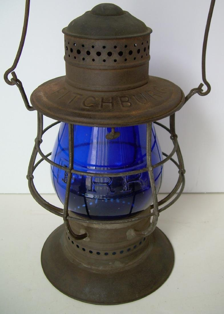 Fitchburg BLUE Cast Ham Railroad Lantern