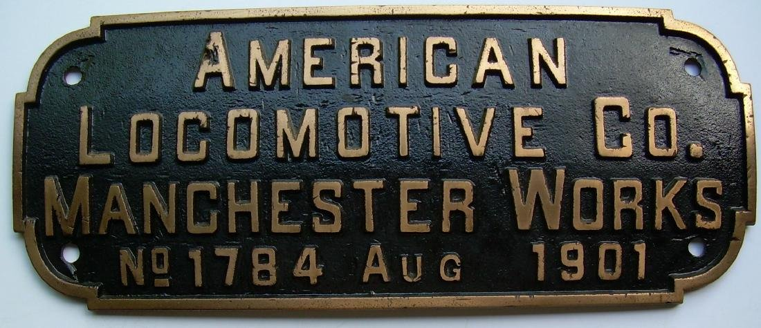 Alco Manchester BAR Builder's Plate