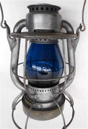 New York Central Vesta Lantern Green Cast Globe