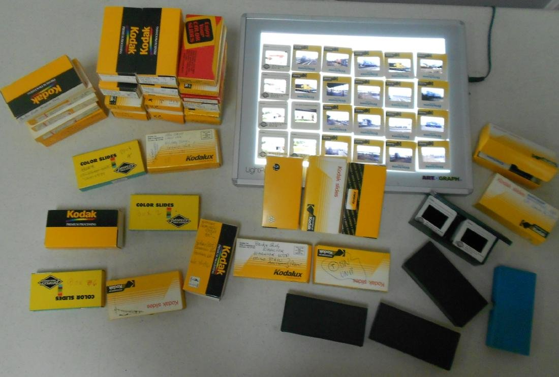 Boxed Train Color Slides (800+)