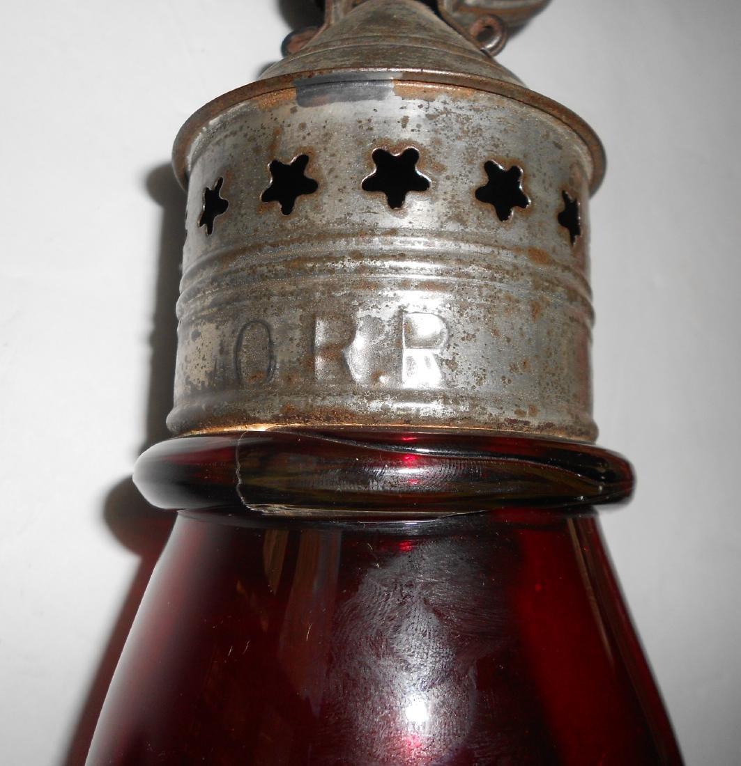 Concord Railroad Fixed Globe Lantern Red Globe - 3