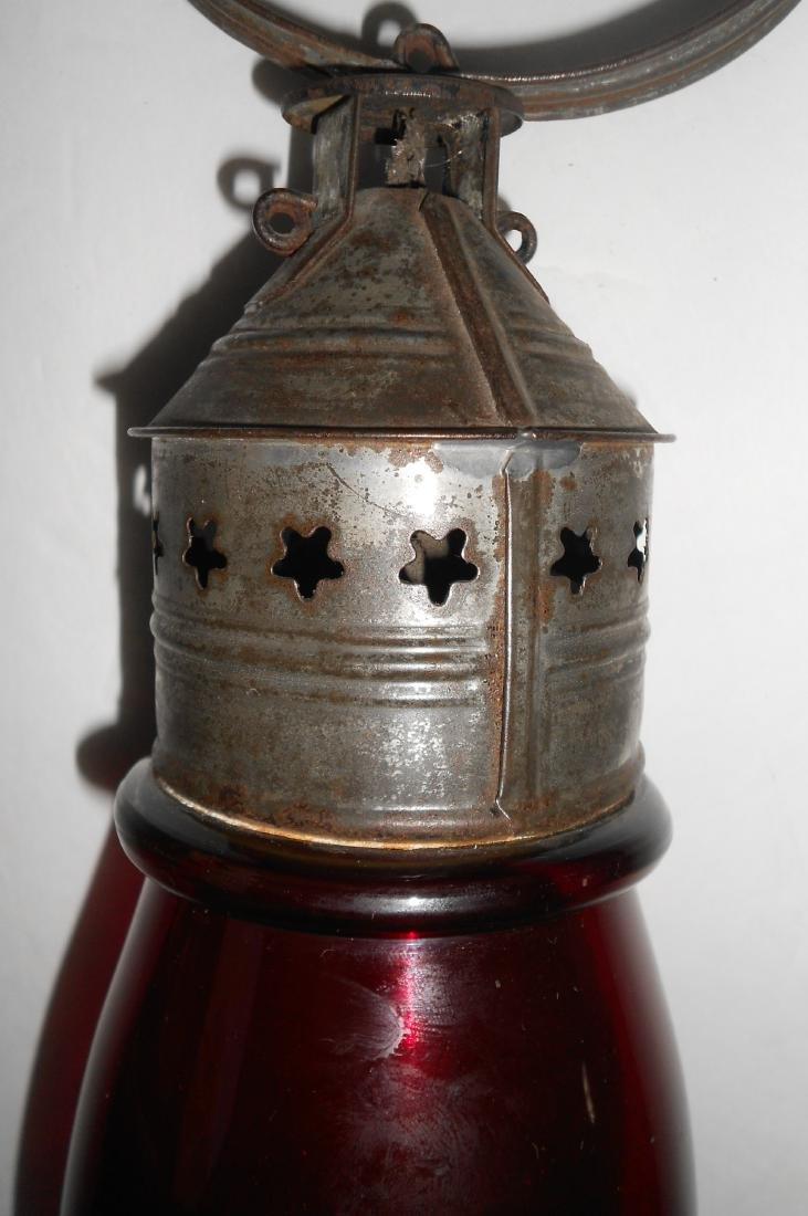Concord Railroad Fixed Globe Lantern Red Globe - 6