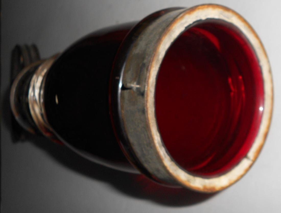 Concord Railroad Fixed Globe Lantern Red Globe - 7