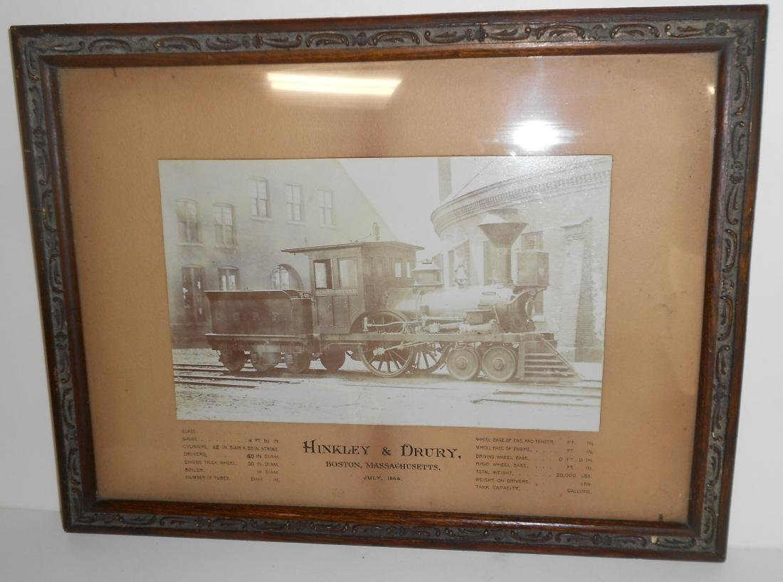 Old Colony Hinkley Framed Steam Locomotive