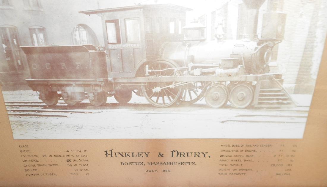Old Colony Hinkley Framed Steam Locomotive - 3