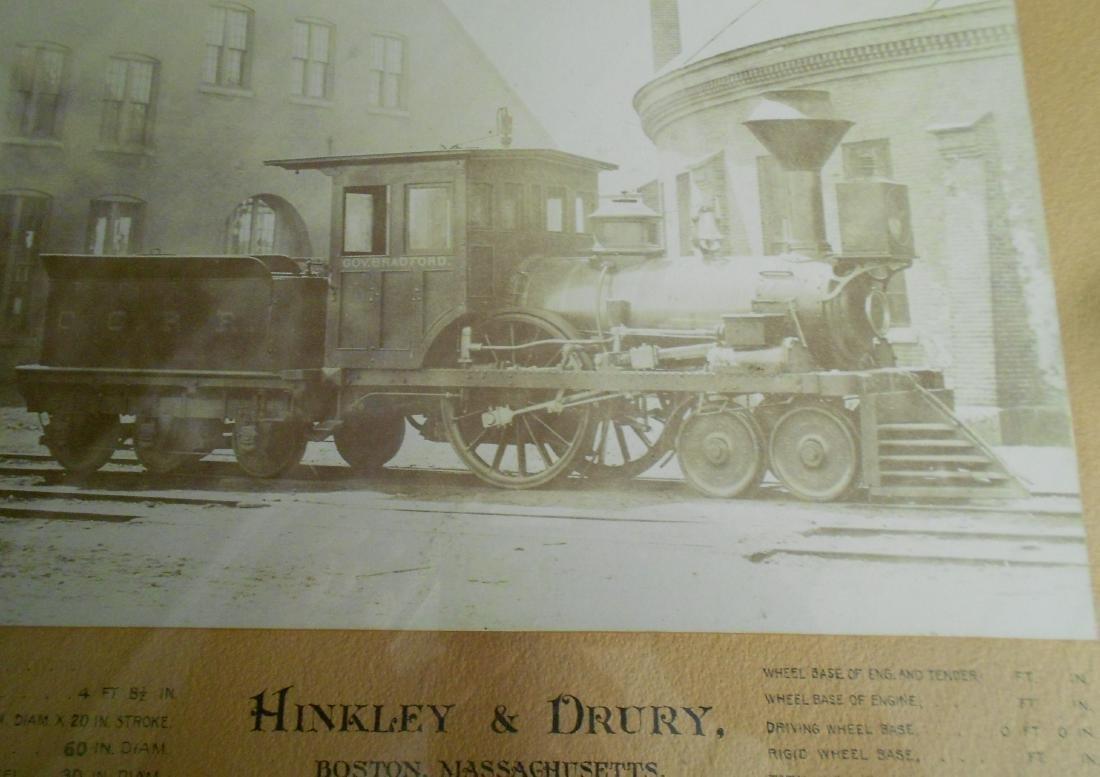 Old Colony Hinkley Framed Steam Locomotive - 7