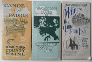 3 Washington County Hunting & Fishing Guide Booklets