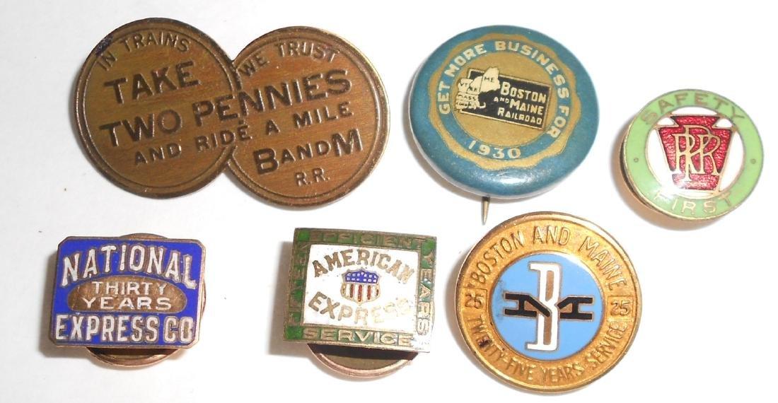 6 Pins:: Nat Express, Am Express, B&M, PRR