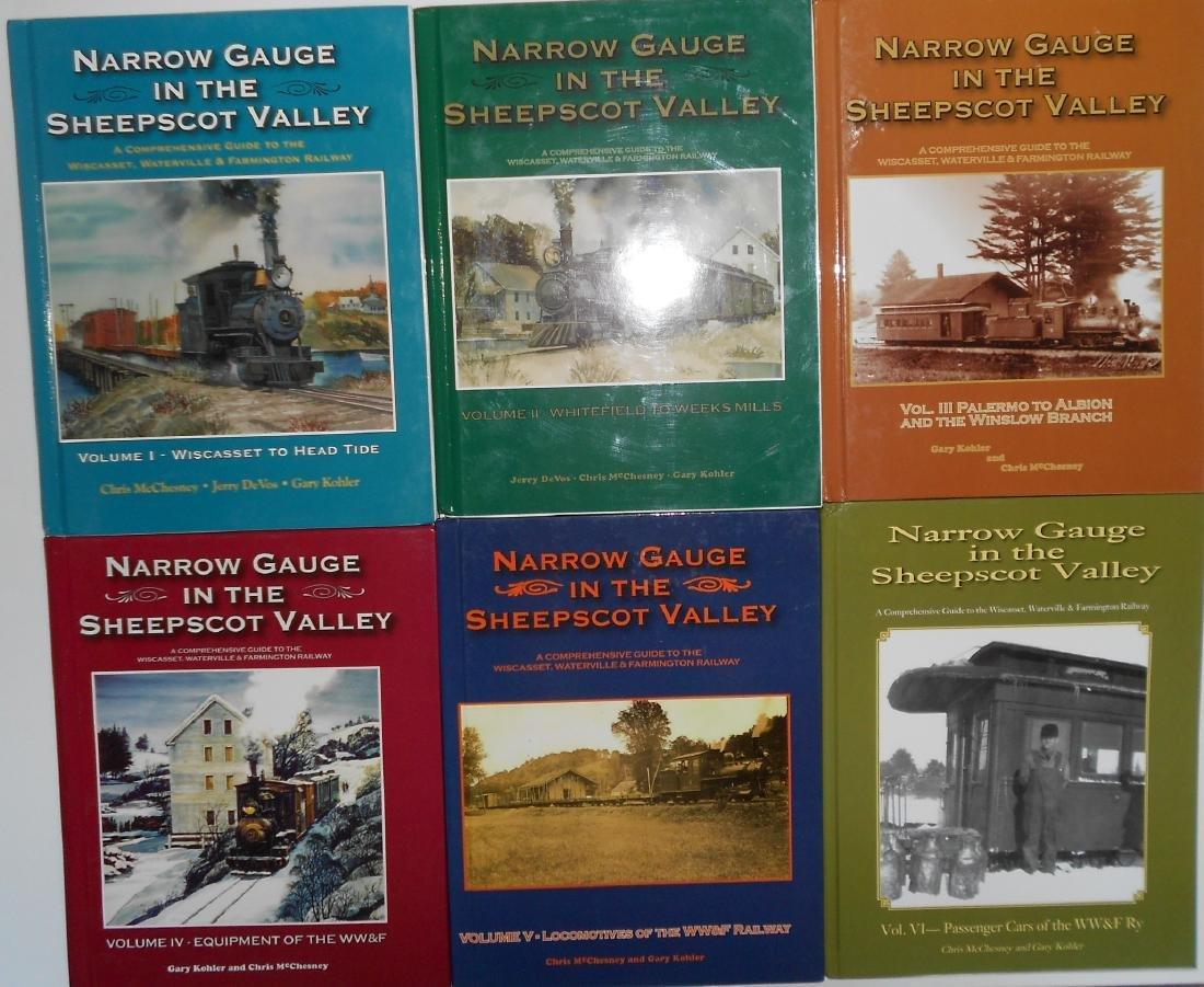 6 Vol Set Wiscasset Waterville & Farmington Books