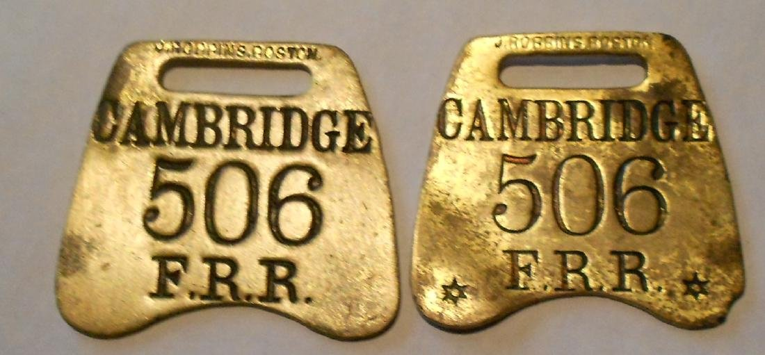 "Fitchburg Railroad Baggage Tag Set ""Cambridge"""