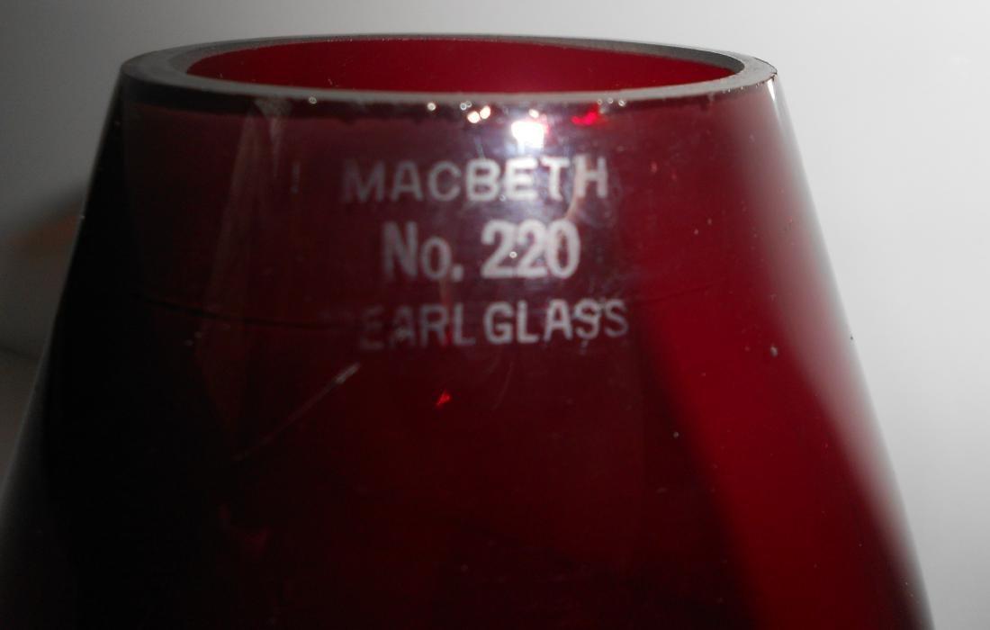 CVRR Red Cast MacBeth 220 Lantern Globe Extended Base - 2