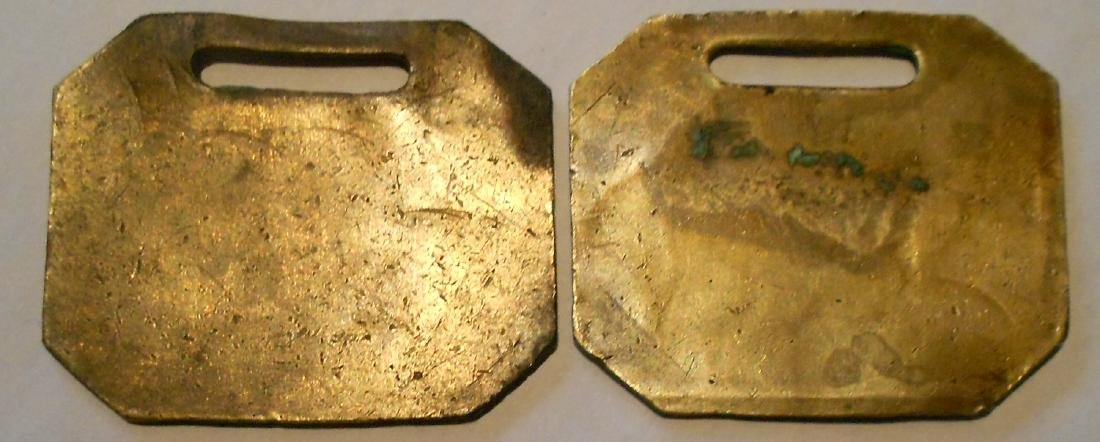 "Fitchburg Railroad Baggage Tag Set ""Boston"" - 2"