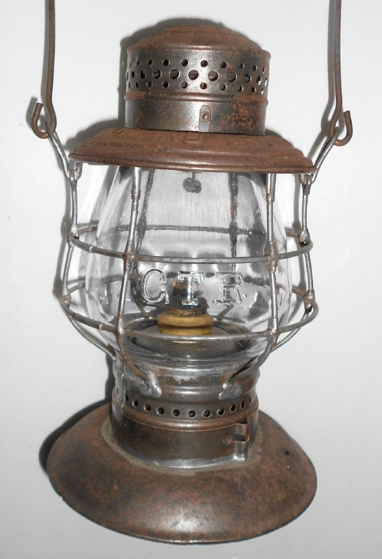 Grand Trunk Railway Bellbottom Lantern EB Globe