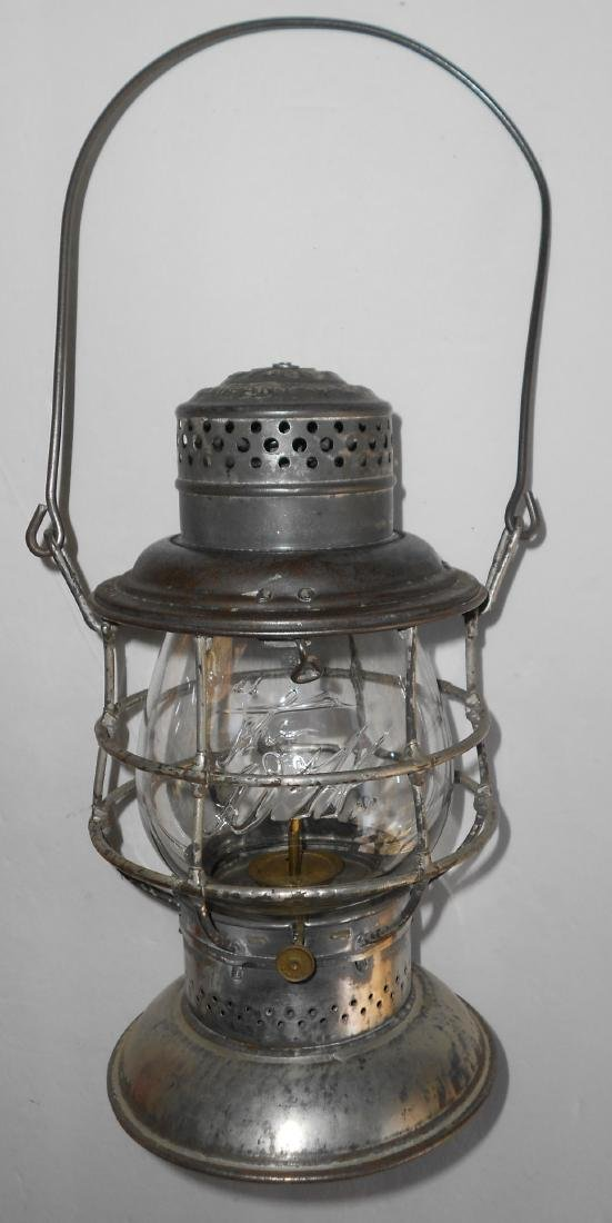 Delaware & Hudson Bellbottom Lantern EB Logo Globe - 2