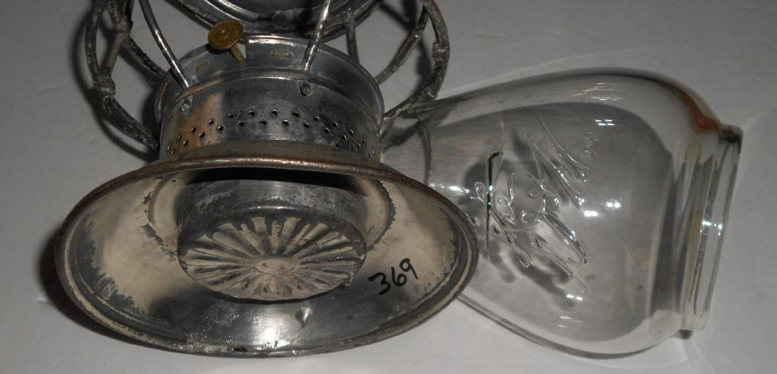 Delaware & Hudson Bellbottom Lantern EB Logo Globe - 7
