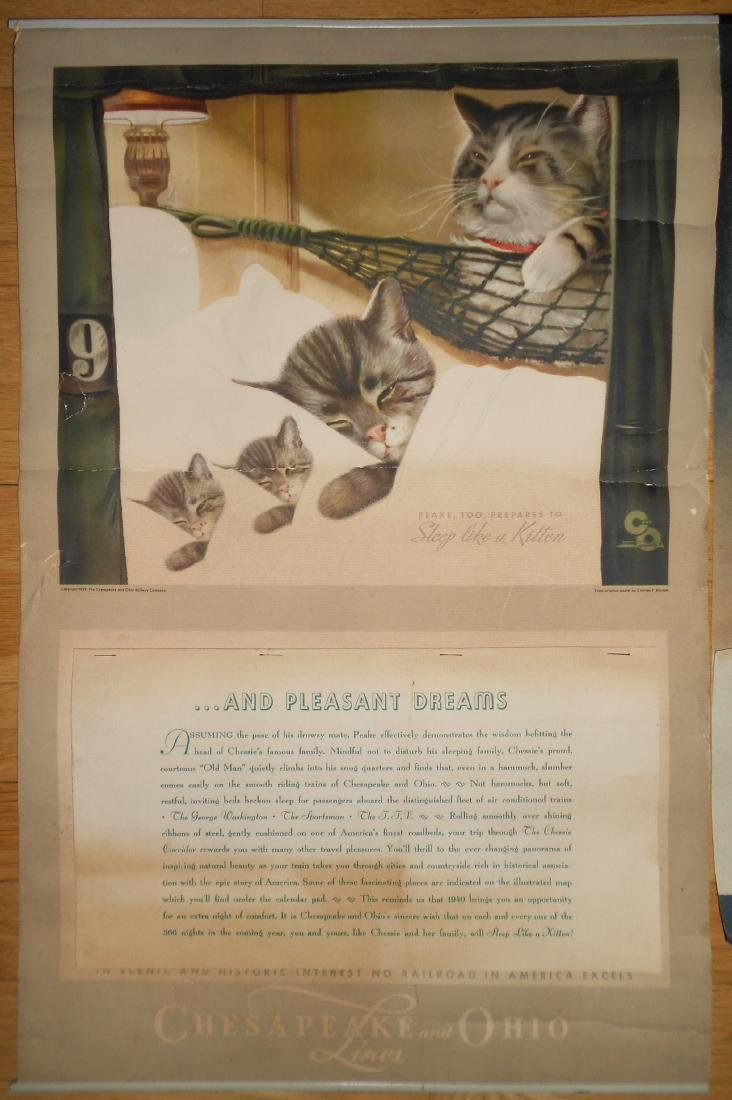 3 Chessie Calendars 1940, 1945, 1946 - 2