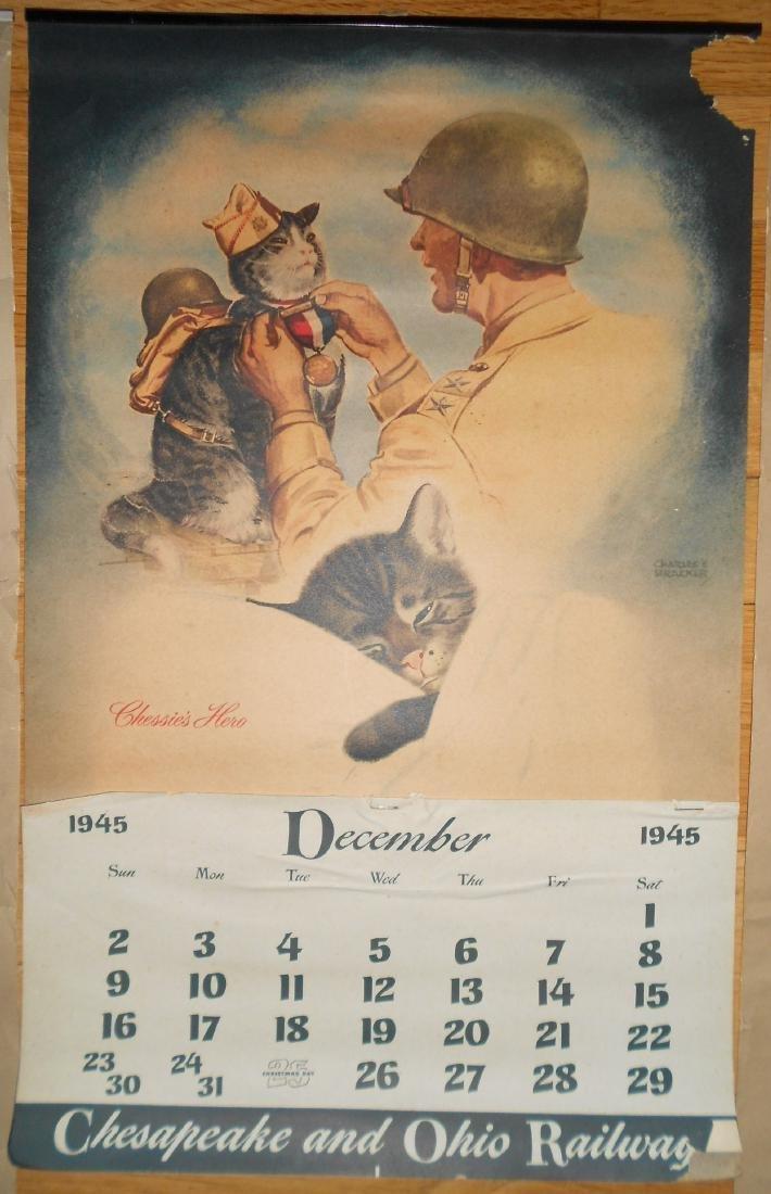 3 Chessie Calendars 1940, 1945, 1946 - 3