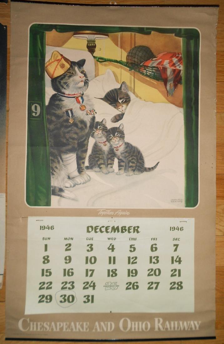 3 Chessie Calendars 1940, 1945, 1946 - 4