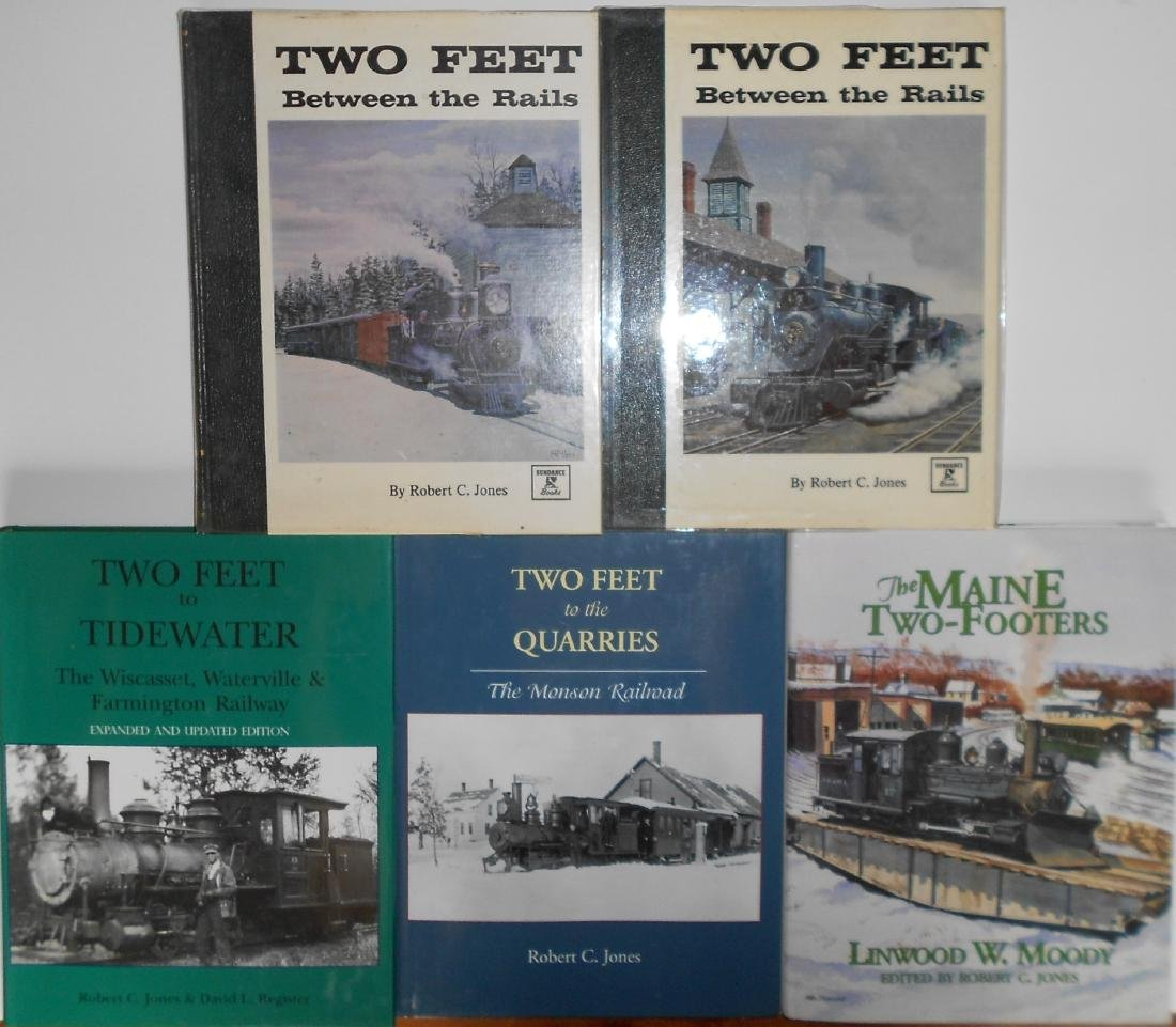 5 Maine Narrow Gauge Books by R. C. Jones