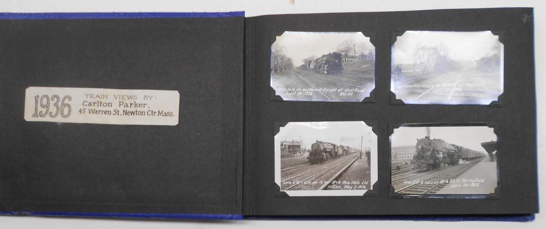 1936 Photo Scrapbook Steam Locomotives