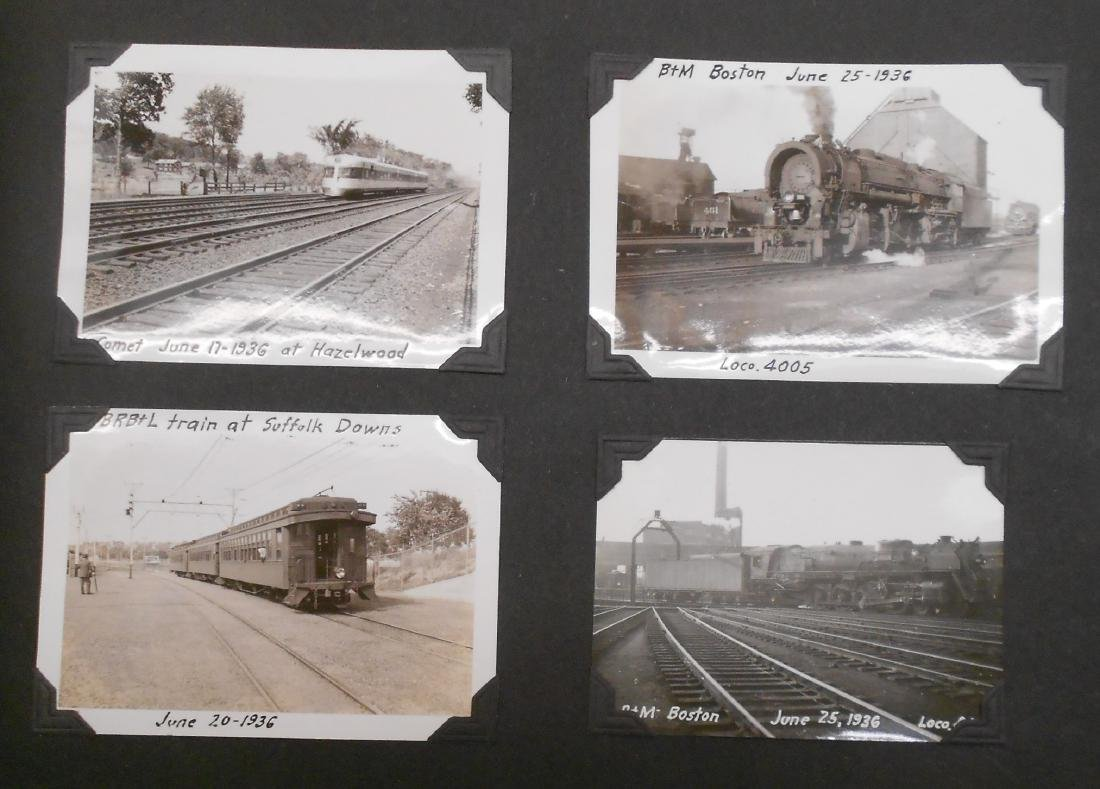 1936 Photo Scrapbook Steam Locomotives - 3