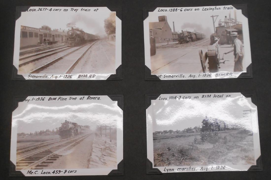 1936 Photo Scrapbook Steam Locomotives - 4