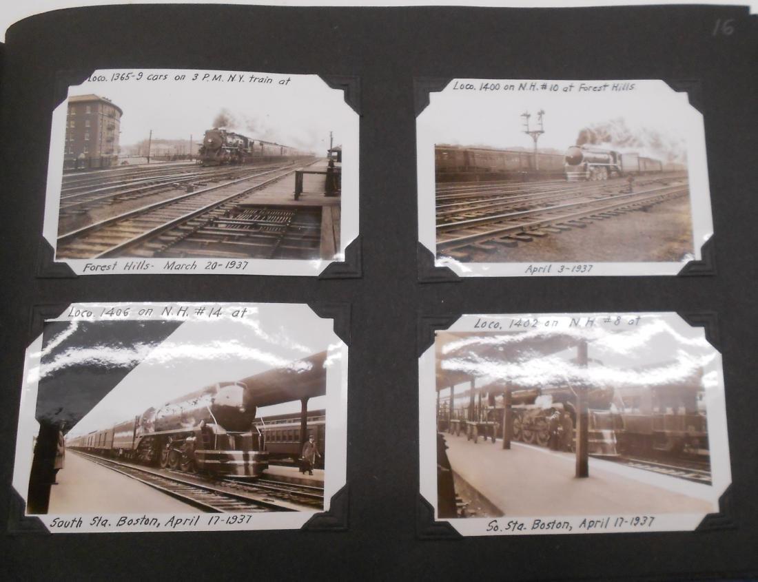 1936 Photo Scrapbook Steam Locomotives - 6