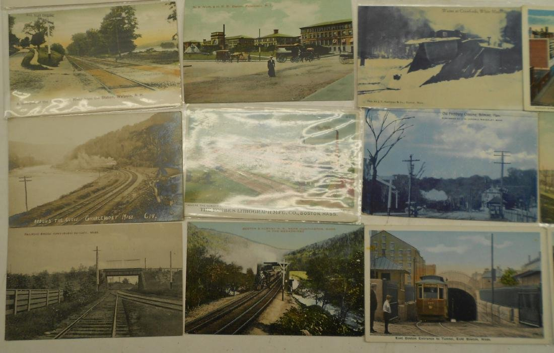 "Postcards 2.5"" stack. Railroad Depots, others - 2"