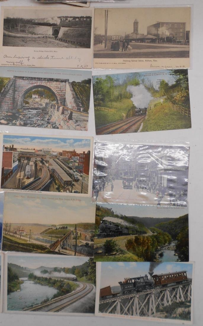 "Postcards 2.5"" stack. Railroad Depots, others - 3"