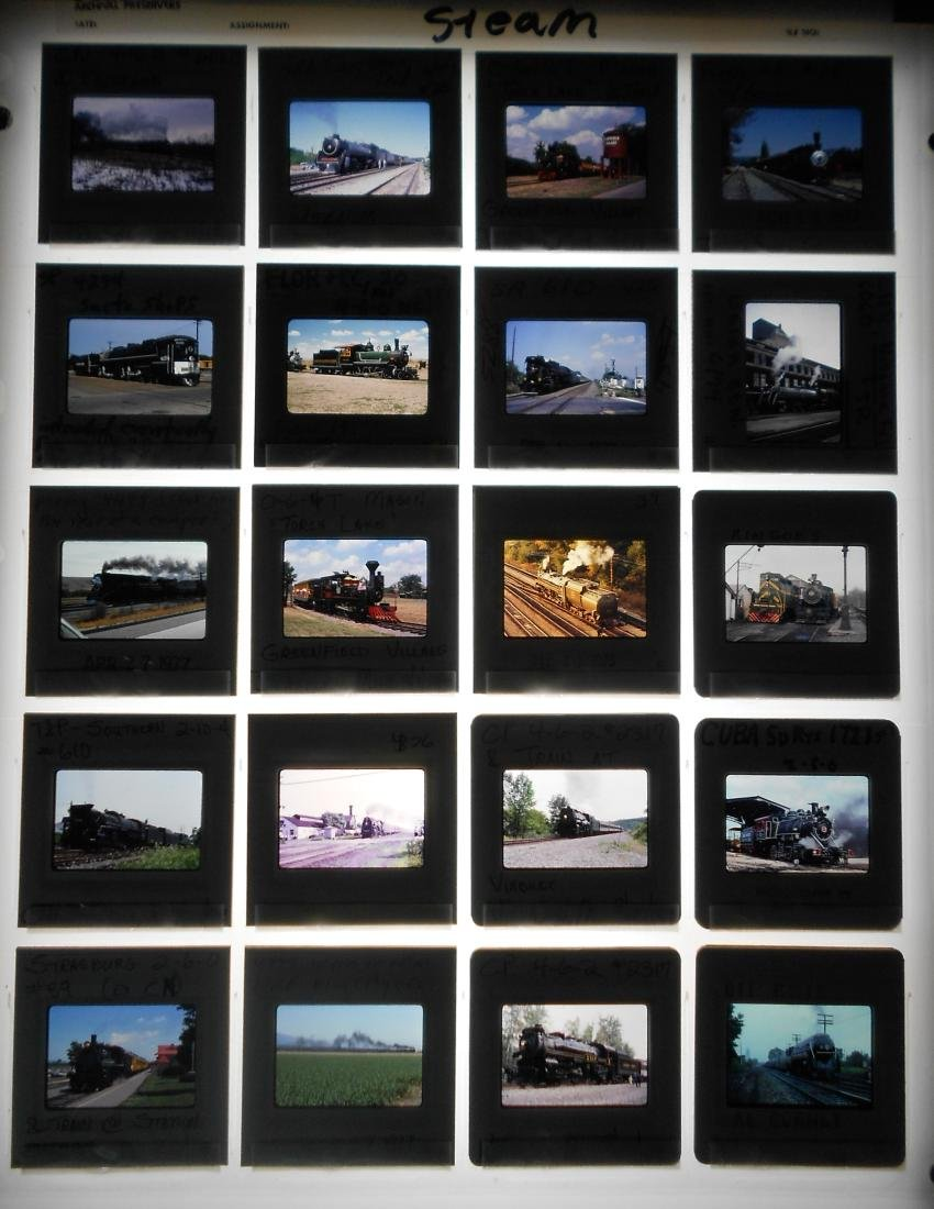 Railroad Locomotive & Rolling Stock Color Slides (200) - 2